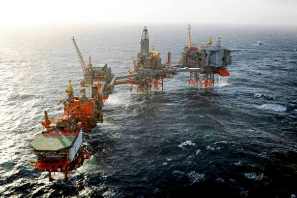 BPs Valhall Platform Norwegian North Sea (photo courtesy of BP p.l.c.)