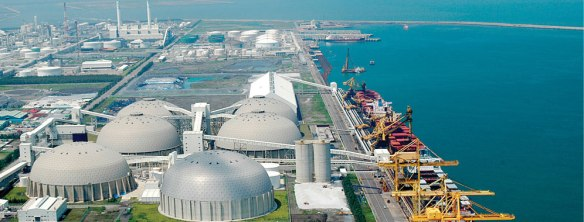Coal storage and power station at Mai Liao Complex Taiwan (photo courtesy of Formosa Group)