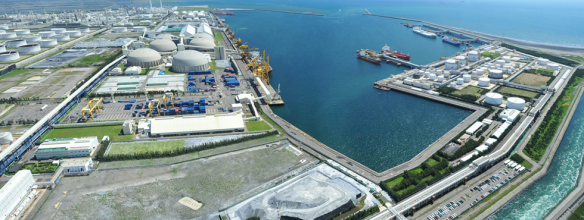 Deep water port at the Mai Liao Complex Taiwan (photo courtesy of Formosa Group)